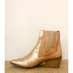 Ankle boots golden