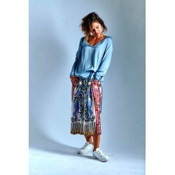 copy of ME369 Skirt Red/Blue