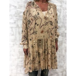 Tunic beige treasure map